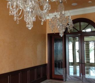 Venetian plaster, dining room