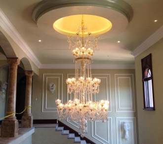 walls, ceiling and dome in venetian plaster