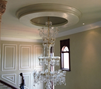 Venetian plaster, walls ceiling and dome